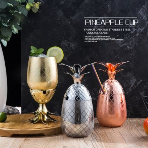 Creative Cocktail Stainless Steel Glass